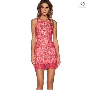Lovers and friends radiant dress in pink lace